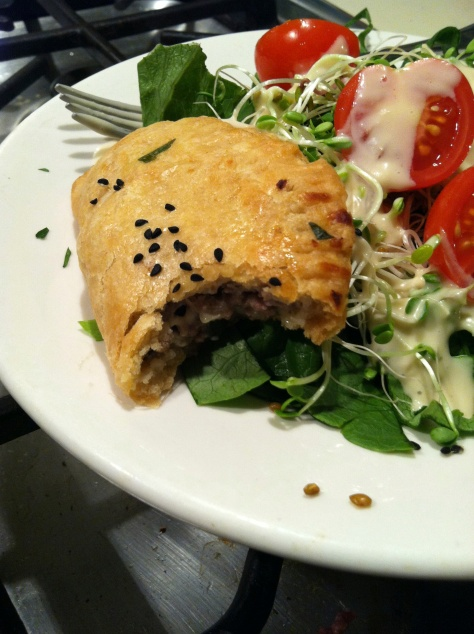 Lamb pastry with nigella seeds